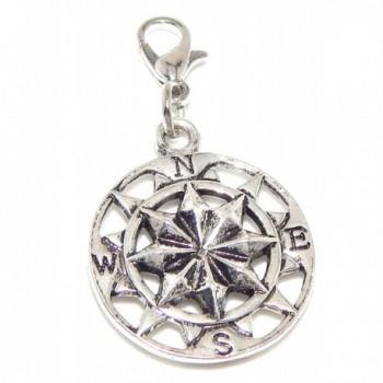 "Jewelry Monster Clip-on ""Compass"" Charm Bead - CT11TYNFUQZ"