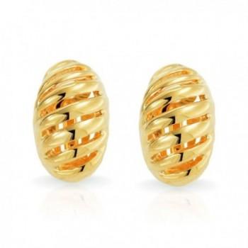 Bling Jewelry Plated Geometric Earrings in Women's Clip-Ons Earrings