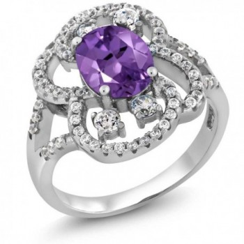 2.48 Ct Oval 9X7MM Purple Amethyst 925 Sterling Silver Ring Sizes 5 to 9 - CX11LN7NUML