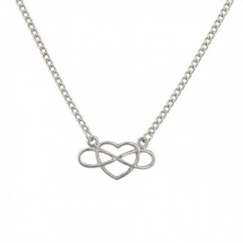 Lux Accessories To Infinity & Beyond Cutout Heart Pendant Necklace. - CM120RWU3GX