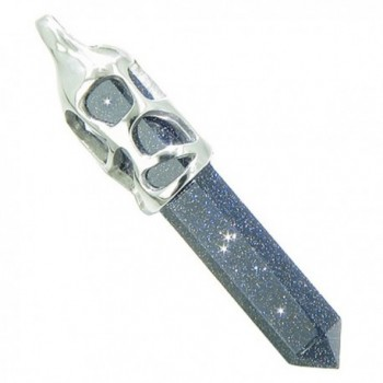Positive Crystal Goldstone Pendant Necklace
