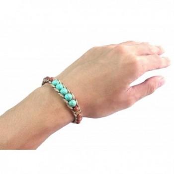 Fashion Handmade Bracelet Turquoise Wristband in Women's Wrap Bracelets