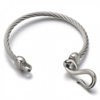 Stainless Steel Infinity Bangle Bracelet in Women's Bangle Bracelets