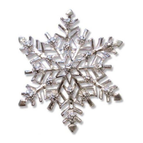 """'Vintage Snowflake' Holiday Collection Snowflake Brooch Pin- 2.25"""" Pricegems Museum Store - CH11H6H2Z1T"""