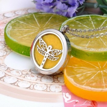 HooAMI Aromatherapy Essential Stainless Dragonfly in Women's Lockets