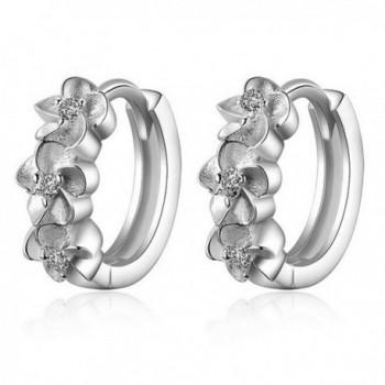 Helen de Lete Little Sakura Rhinestone Silver Earrings - CF12B902TL9