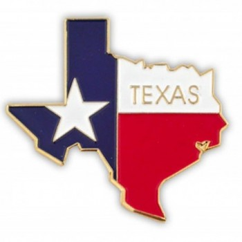 PinMart's State Shape of Texas and Texas Flag Lapel Pin - CB119PEKYHN