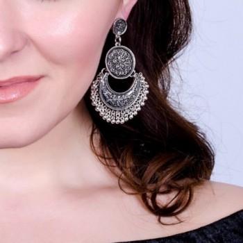 BaubleStar Bohemian Crescent Earrings Statement
