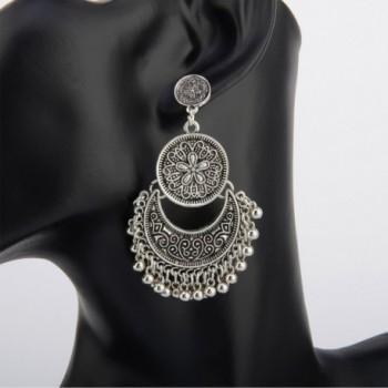 BaubleStar Bohemian Crescent Earrings Statement in Women's Drop & Dangle Earrings