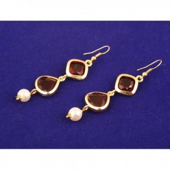 Touchstone Bollywood Exclusive Designer Earrings in Women's Drop & Dangle Earrings