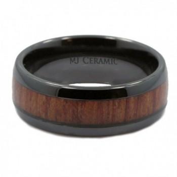 MJ Black Ceramic Wedding Inlay in Women's Wedding & Engagement Rings