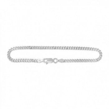 Sterling Silver Cuban Curb Link Chain Necklace or Bracelet 3mm Italy - CT11IMQ04UH
