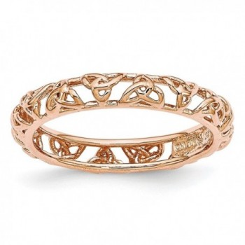Rose Gold Tone Plated Sterling Silver Stackable 3.5mm Celtic Knot Band - CP12JRLJBU9