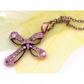 Alilang Rhinestones Antique Pendant Necklace