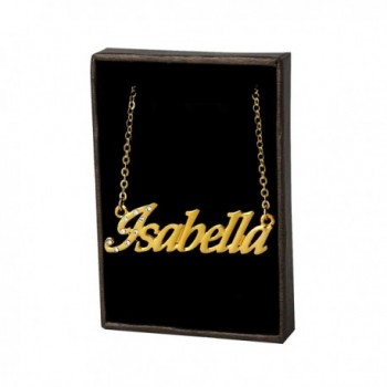 "Name Necklace ""Isabella"" - 18K Yellow Gold Plated - CK11LEHDGLP"