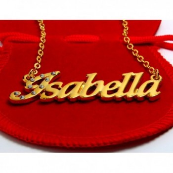 Name Necklace Isabella Yellow Plated