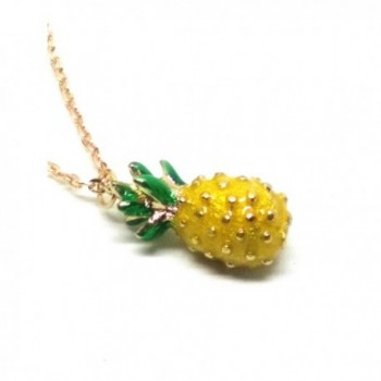 Vintage Pineapple Pendant Long Chain Necklace - CO17YTIG333