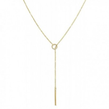 Benevolence Gold Necklace Lariat Vertical - C4188KRZSD8