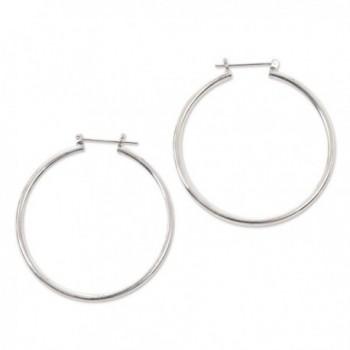 NOVICA .925 Sterling Silver Hoop Earrings- 'Moonlit Goddess' (46mm) - C1116HMHJNN