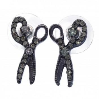 Scissors Post Stud Earrings Hairdresser Hair Stylist Gift - C811WAGE9OL