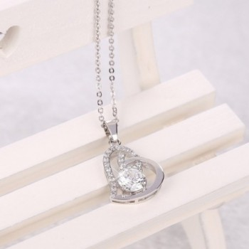 Cos2be Heart Pendant Necklace Zirconia