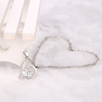 Cos2be Heart Pendant Necklace Zirconia in Women's Chain Necklaces