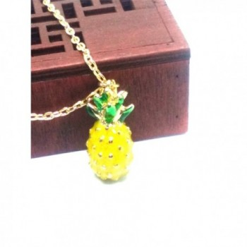 Vintage Pineapple Pendant Chain Necklace in Women's Pendants