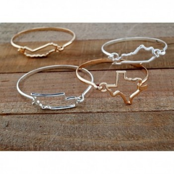 State shape bangle bracelet Texas Silver in Women's Bangle Bracelets