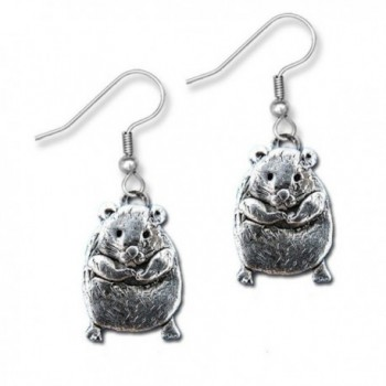 Pewter Large Hamster Earrings by The Magic Zoo - CO11DF213OJ