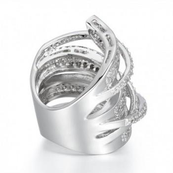 Delicin Jewelry Rhodium Zirconia Cocktail in Women's Statement Rings