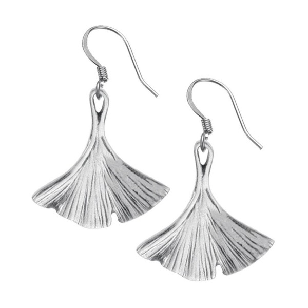 Danforth - Ginkgo Leaf Pewter Wire Earrings - CF110MMJFOZ