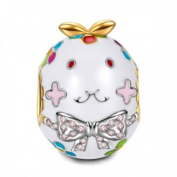 """NinaQueen """"Daddy's Girl"""" 925 Sterling Silver Miss Bunny Enamel Animal Bead Charms-Happy Family - C012O35ZPAA"""