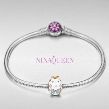 NinaQueen Sterling Bracelets Necklace valentines in Women's Charms & Charm Bracelets