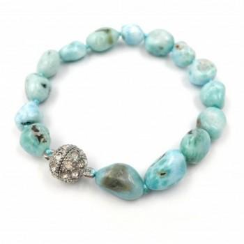Natural Larimar Bracelet Crystal Magnet