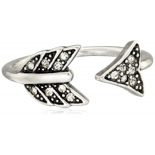 House of Harlow 1960 Womens Arrow Affair Ring - Silver - C811OGK1UQF