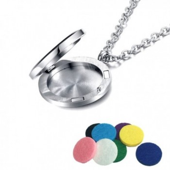 Essential Diffuser Necklace Aromatherapy Magnetic in Women's Lockets