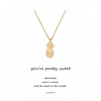 Geerier You're Pretty Sweet Pineapple Pendent Necklace - Pineapple - CX185WAIMKM