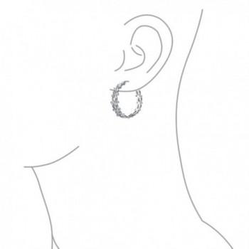 Bling Jewelry Infinity Earrings Rhodium in Women's Hoop Earrings