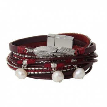 Genuine Leather Bracelet Pendant JOYMIAO