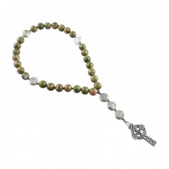 Anglican Rosary Beads- Unakite- Epidote- Celtic Cross- Prayer Bag- Instruction Booklet - C112MZ2WQ6T
