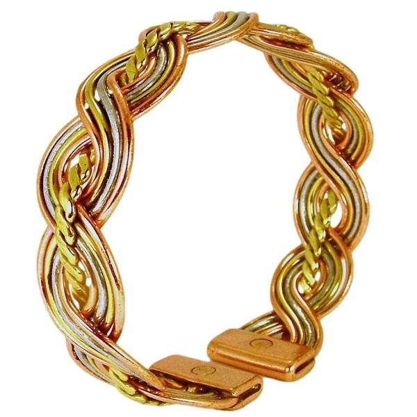 Womens Solid Copper Magnetic Bracelet Lucy Medium with Gift Box - CV11QK4LYUH