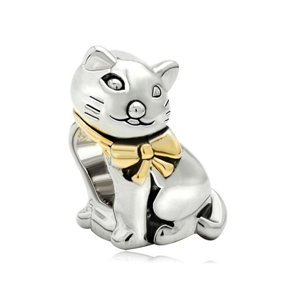 Heart of Charms Pet Charms Cat Charms Cute Animal Charms Beads for Snake Chain Bracelets - CD18953LK7U