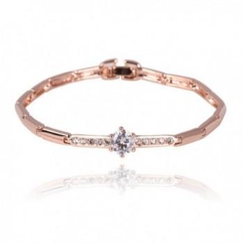 FAIRY COUPLE Charm with Flower Clear Austrian Crystal Bracelet B85 - CY11DCRD27N