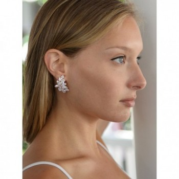 Mariell Blush Earrings Marquis Cut Clusters