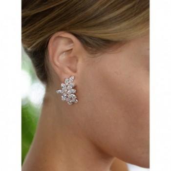 Mariell Blush Earrings Marquis Cut Clusters in Women's Clip-Ons Earrings