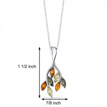 Baltic Pendant Necklace Sterling Multiple