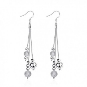Haoze Fashion Jewelrys 925 Sterling Silver Plated Multiple Choices Dangle Earring Set - Tassels - CL182DWTTAD