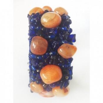 Natural Bracelet Blue Orange Mens Jewelry Womens bracelet Hand