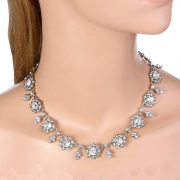 EVER FAITH Silver Tone Snowflake Necklace