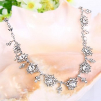 EVER FAITH Silver Tone Snowflake Necklace in Women's Jewelry Sets